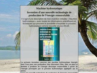 Invention: Machine hydrostatique