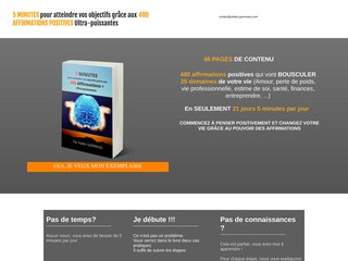Affirmations positives atteindre les objectifs