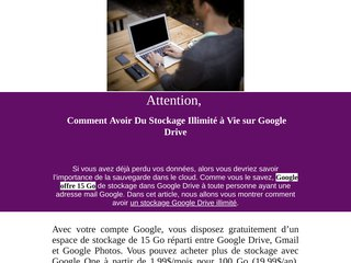 espace google drive illimité