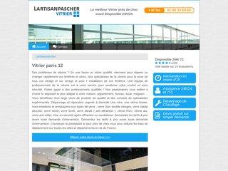 Détails : Vitrier urgence Paris 12