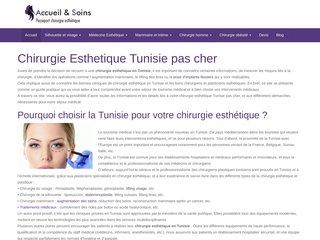 chirurgie esthetique tunisie tarif
