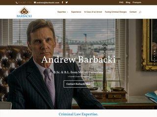 Andrew Barbacki - Avocat spécialisé en droit criminel à Montréal