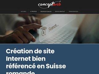 Détails : ConceptWeb, conception de sites web en Suisse