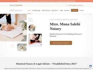 Me Mona Salehi, Notaire, Conseillère  juridique et Célébrante de mariages civils à Montréal