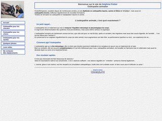 Delphine Pottier : ostéopathe animalière