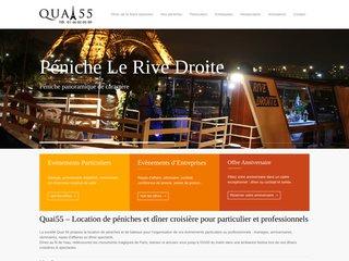 Détails : Quai55.com votre diner croisière à Paris