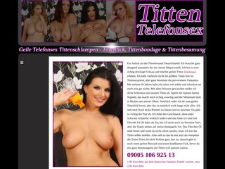 Titten Telefonsex - Top Amateur Tittenschlampen am Sexphone