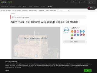 Army Truck Full textures with sounds Engine 3D Models