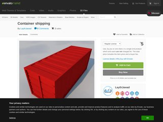Container shipping 3D Models