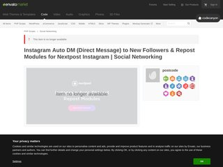Instagram Auto DM Direct Message to New Followers Repost Modules for Nextpost Instagram Social Networking