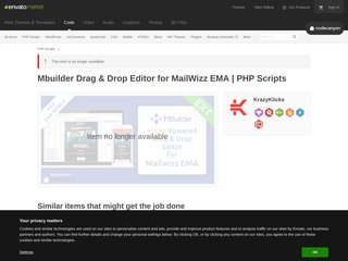 Mbuilder Drag Drop Editor for MailWizz EMA PHP Scripts