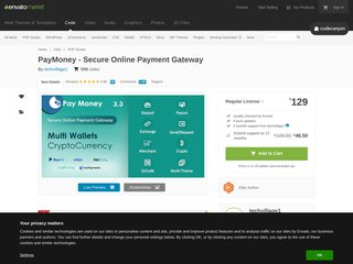 PayMoney - Secure Online Payment Gateway (PHP Scripts)
