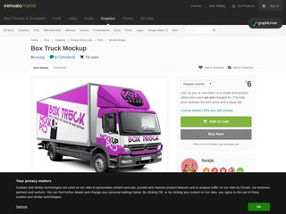 Box Truck Mockup (Vehicle Wraps)