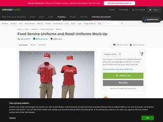 Food Service Uniforms and Retail Uniforms Mock-Up (Apparel)