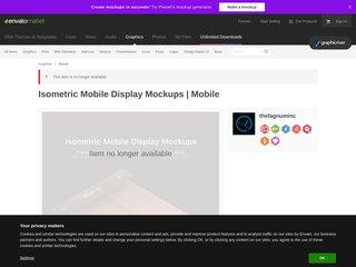 Isometric Mobile Display Mockups (Mobile)