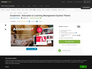 Academist - A Modern Learning Management System and Education Theme (Education)