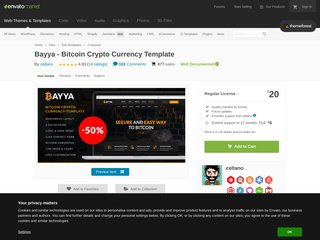 Bayya - Bitcoin Crypto Currency Template (Corporate)