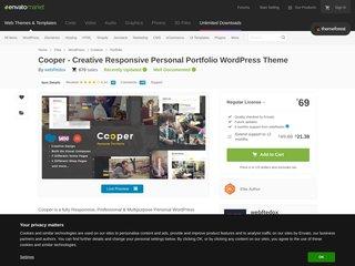 Cooper Creative Responsive Personal Portfolio WordPress Theme Portfolio