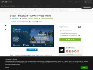 Deasil - WordPress Theme for Travel and Tour Agency (Travel)