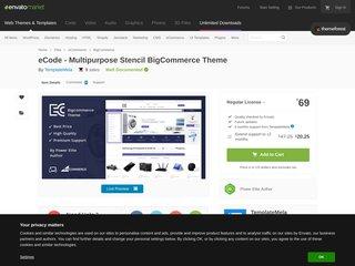 eCode Multipurpose Stencil BigCommerce Theme BigCommerce