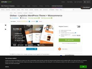 Globax - Logistics Cargo Transportation WP Theme (Business)