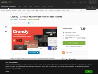 Grandy - Creative MultiPurpose WordPress Theme (Creative)