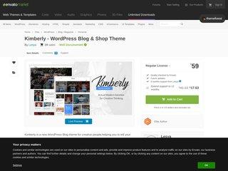 Kimberly - WordPress Blog Shop Theme (Personal)