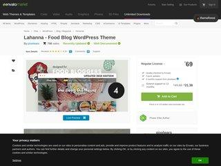 Lahanna - WordPress Food Blog Theme for Food Bloggers (Personal)