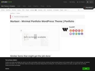 Murbani - Minimal Portfolio WordPress Theme (Portfolio)