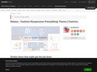 Raloza - Fashion Responsive PrestaShop Theme (Fashion)