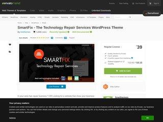 SmartFix The Technology Repair Services WordPress Theme Retail