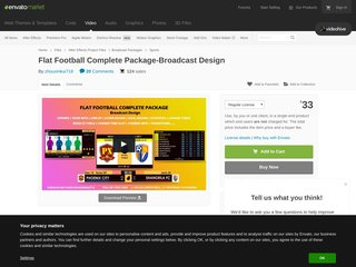 Flat Football Complete Package Broadcast Design Sports