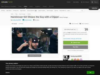 Hairdresser Girl Shears the Guy with a Clipper (Lifestyle)