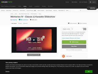 Memories IV Classic Karaoke Slideshow Retro