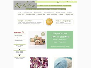 Détails : Kalidou : vente laines, Drops, aiguilles Hiya Hiya et accessoires pour le tricot