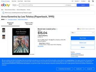 Anna Karenina by Leo Tolstoy Book | NEW Free Post AU
