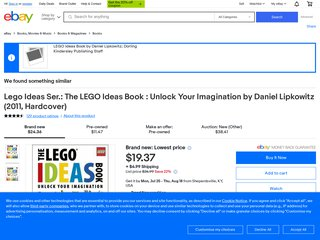 LEGO Ideas Book by Daniel Lipkowitz;Dorling Kindersley Publishing Staff