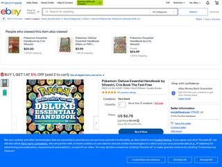Pokemon: Deluxe Essential Handbook by Silvestri, Cris Book The Fast Free