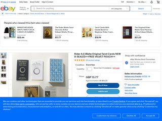 Rider A.E.Waite Original Tarot Cards NEW &SEALED++FREE VELVET POUCH++