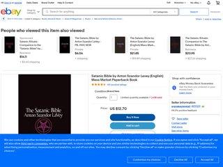 The Satanic Bible by Anton Szandor Lavey (English) Mass Market Paperback Book Fr