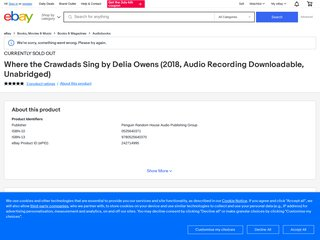 🔥 Where the Crawdads Sing 🔥By Delia Owens 2018 EB00K best selling 🥇