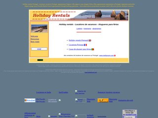 screenshot http://allholidayrentals.free.fr Locations au portugal locations vacances portugal