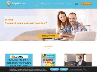 screenshot http://budgetfacile.com Budgetfacile.com