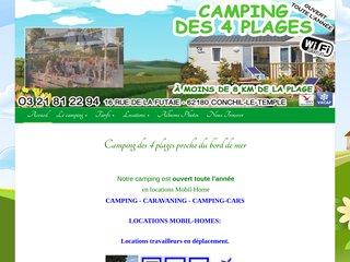 Camping Des Quatre Plages 2 étoiles à Conchil-Le-Temple