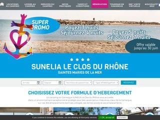 Camping Le Clos Du Rhône 4 étoiles à Saintes-Maries-De-La-Mer