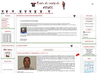 screenshot http://ecolederugby.revel.free.fr/ Ecole de rugby de revel 31