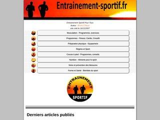 screenshot http://entrainement-sportif.fr 10 chemins vers un mieux etre sportif