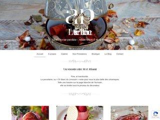 screenshot http://fany-porcelaine.com Atelier porcelaine