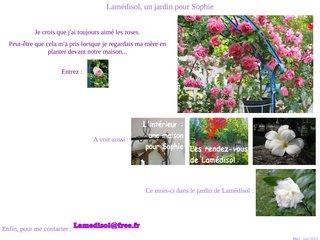 screenshot http://lamedisol.free.fr Lamedisol, un jardin pour sophie