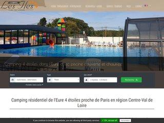 Camping Les Iles 4 étoiles à Oulins